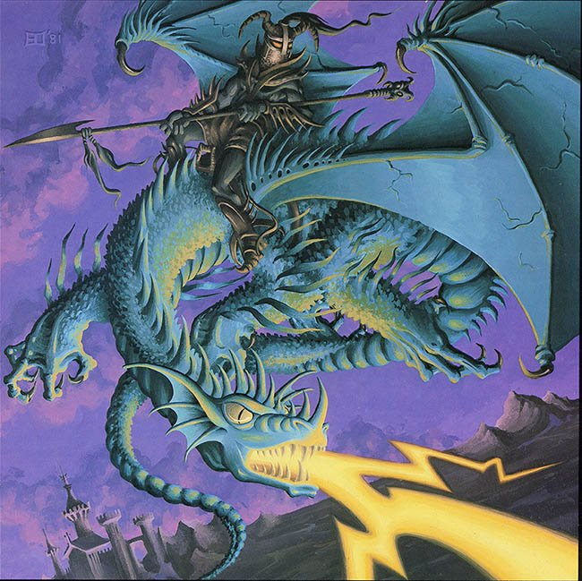 Erol Otus Blue Dragon 1981(From the Year of Dragon 1982 Calendar)