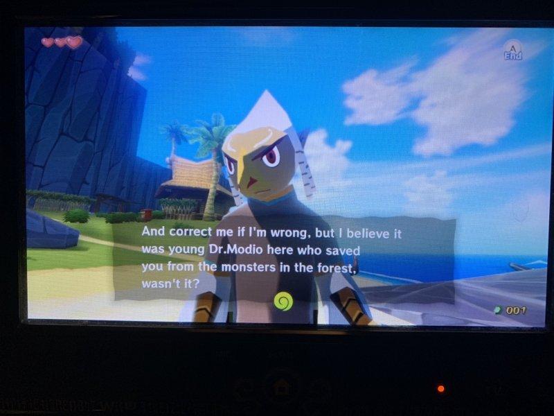 Wind Waker platying as Dr.Modio on Wii U