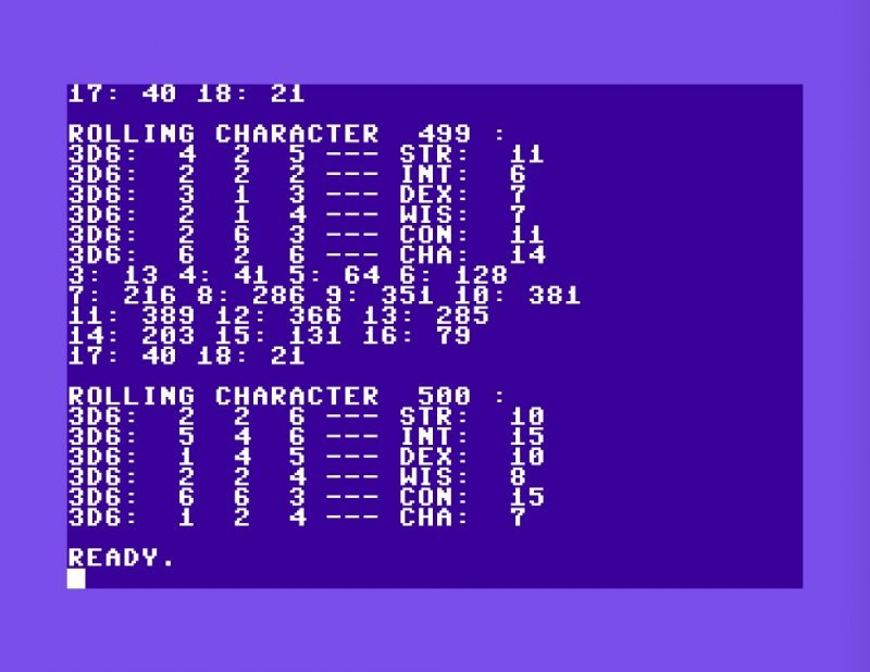 Screen Shot of a Commodore 64 screen
