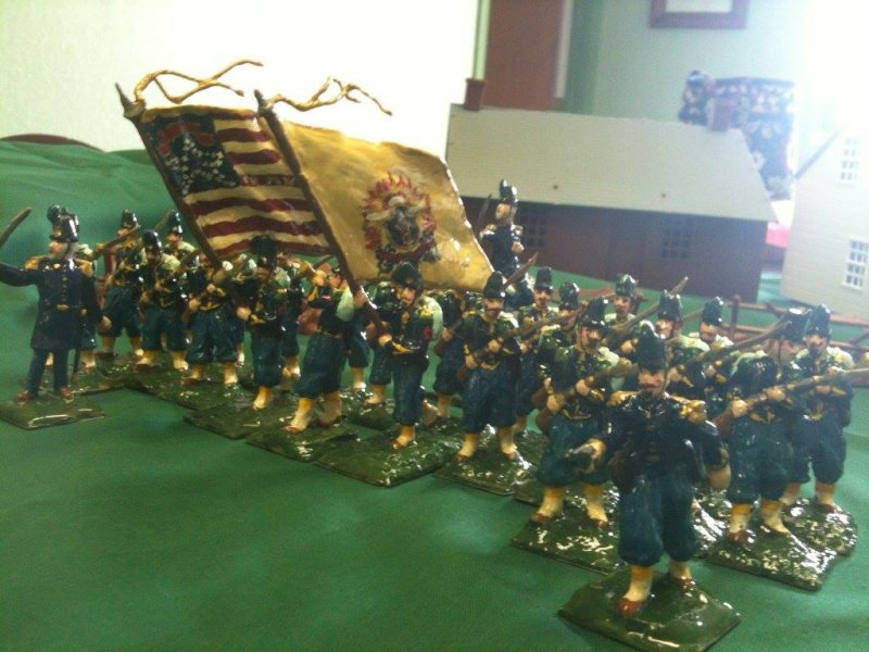18th Massachusetts; 20 individual full customizations of stock BMC figures