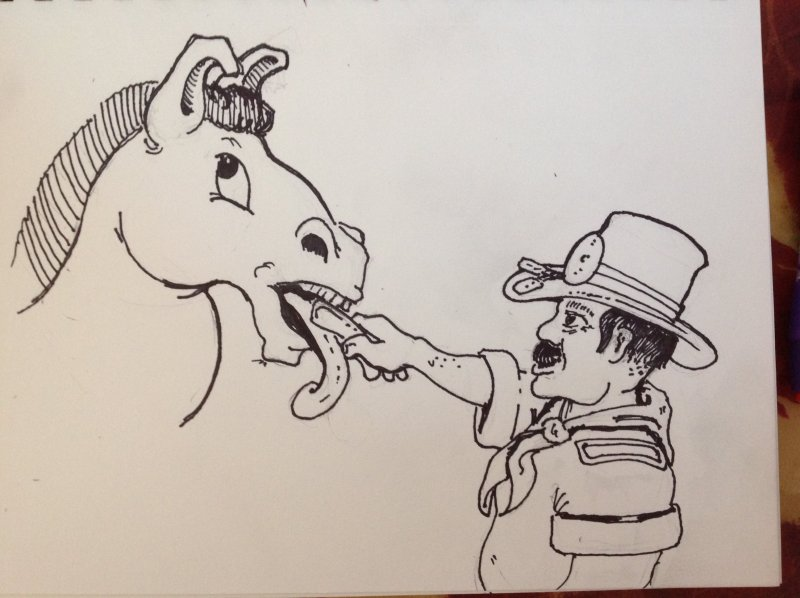 the last drawing I ever did for my Dad