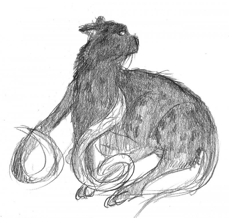 Displacer Beast pencil sketch