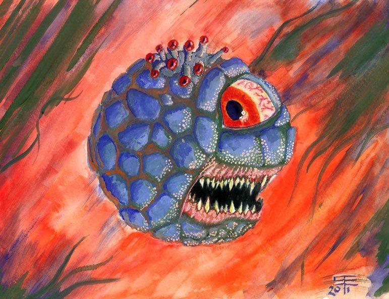 Beholder in Watercolor