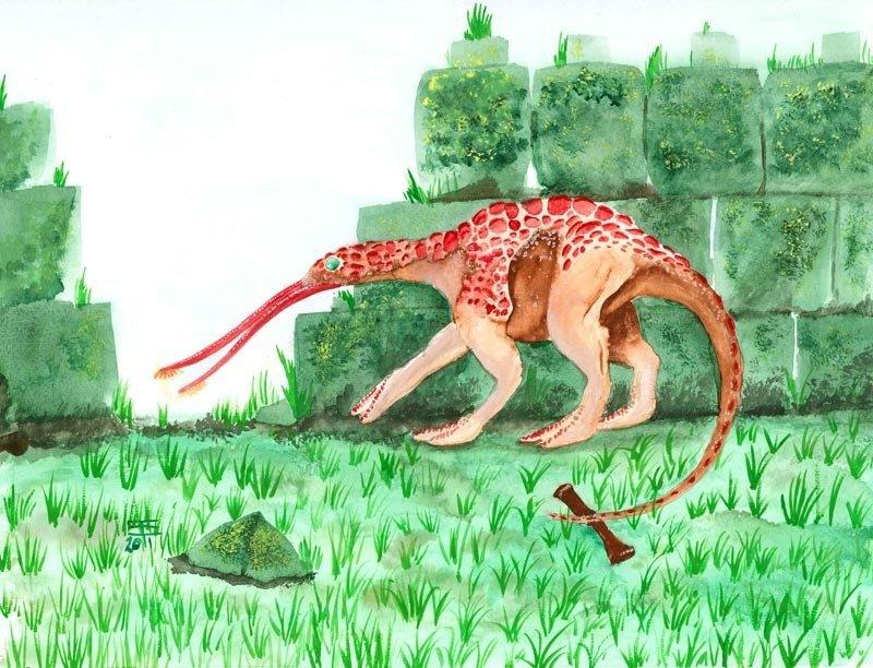 Rust Monster in watercolor